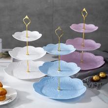 Abnehmbare Kuchen Stehen Europäische Stil 3 Tier Gebäck Cupcake Obst Platte Portion