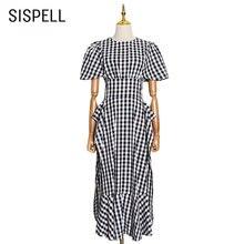 Женское Сетчатое платье с круглым вырезом и коротким рукавом
