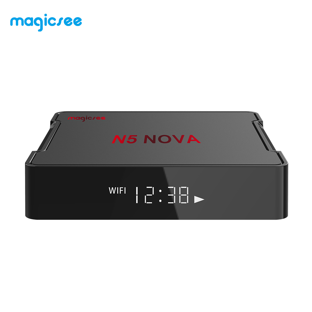 Magicsee N5 NOVA Android 9.0 Smart Tv Box 4GB 32GB RK3318 Quad-Core BT4.0 2.4G 5G Wifi Set Top Box N5 MAX Media Player(China)