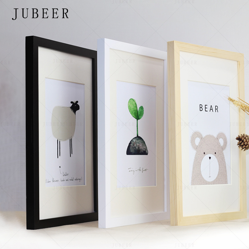 >Nordic Simple Wooden Frame A4 A3 Black <font><b>White</b></font> Color Picture Photo Frames <font><b>for</b></font> <font><b>Wall</b></font> picture frames <font><b>wall</b></font> photo frame home decor