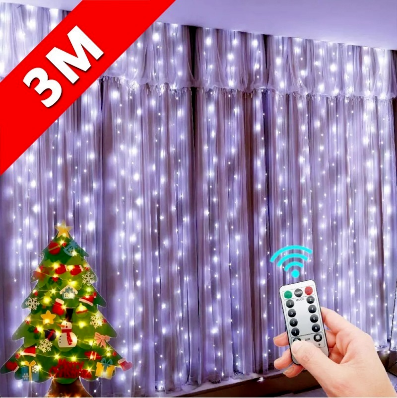 LED String Lights Christmas Decoration Remote Control USB Wedding Garland Curtain 3M Lamp Holiday For Bedroom Bulb Outdoor Fairy