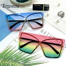 2020 New Italian Luxury Gradient Sunglasses Women Trendy Brand One Piece Sun Glasses Rimless Oversized Frame Female Shades UV400