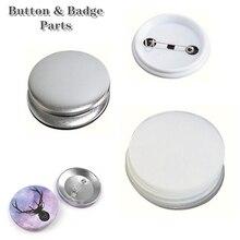 30/50/100 комплекты пустой Pin значок кнопки Maker решений Запчасти Материал поставки 25-75 мм создатель кнопки значок удар Пресс машина Запчасти