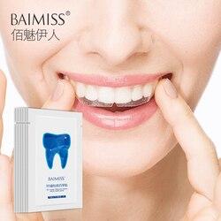 BAIMISS Zähne Bleaching Streifen 3D Weiß Gel Zahn Bleaching Oral Hygiene Pflege Flecken Entferner Dental Bleichen Werkzeug 14 Pcs/ 7Pairs