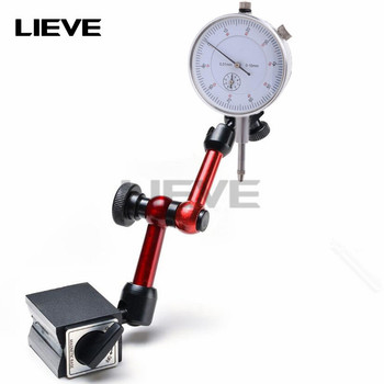 10mm Dial Indicator Magnetic stands Dial indicator Universal Magnetic Base Holder Stand Table Scale Precision Indicators Measure mini universal adjustable gauge stand holder magnetic base holder digital level dial test indicator