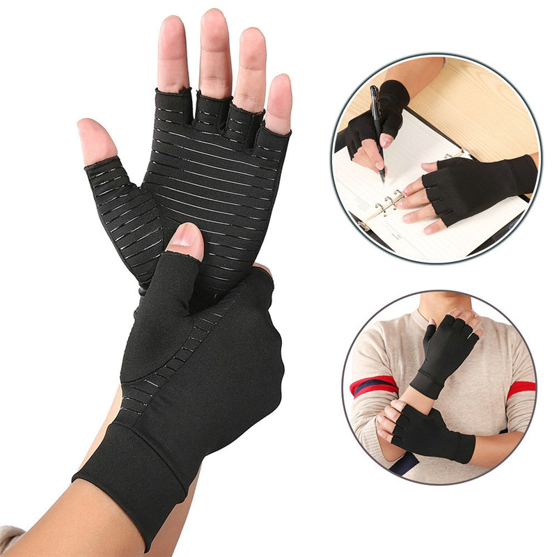 Fingerless Gloves Arthritis Gloves Cotton Therapy Compression Gloves Circulation Grip Hand Arthritis Joint Pain Relief