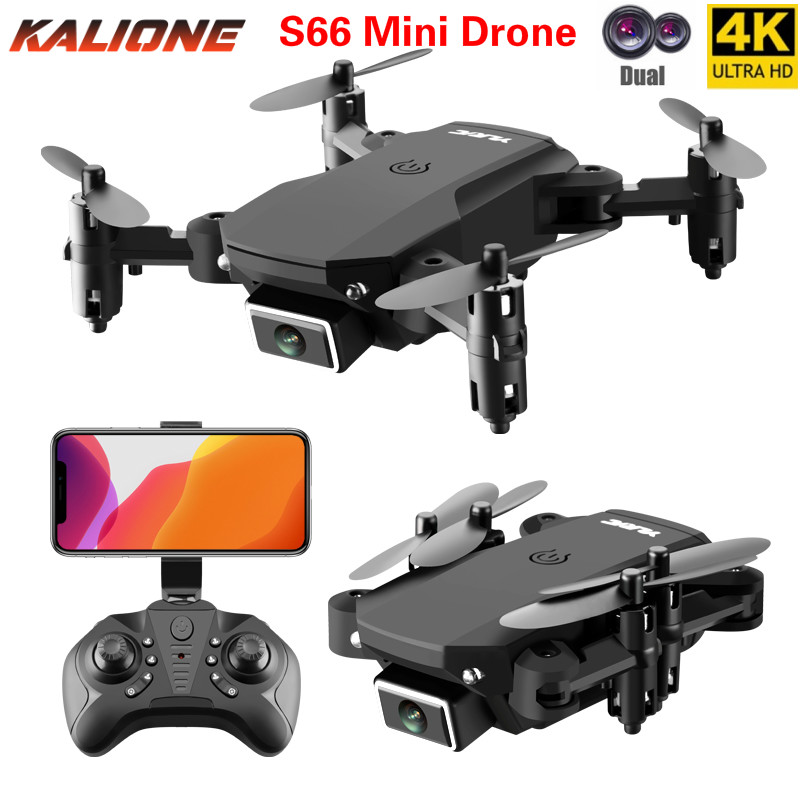 S66 Foldable Mini Drone With RC Quadrocopter With 4K Camera HD Quad-Counter With Optical flow Dual Camera RC Helicopter drones