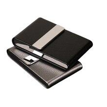 Boîte à cigarettes verticale porte-cartes professionnelles boîte de poche conteneur de rangement en acier inoxydable