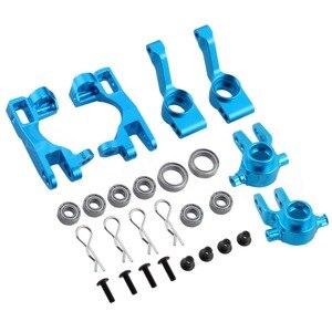 Image 3 - For 1/10 Traxxas Slash 4x4 Aluminum Left & Right Steering Blocks Part # 6837X C Hubs 6832X Axle Carriers Caster Blocks 1952X