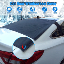 Car Rear Windscreen Snow Cover Anti Foil Ice Dust Sun Windshield Frost Covers & Sun Shade Protector for Vehicle Rear Windshield