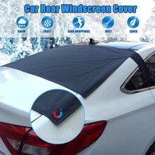 กระจกรถด้านหลังหิมะป้องกันฟอยล์ ICE DUST Sun กระจก Frost ครอบคลุม & Sun Shade สำหรับด้านหลังกระจก