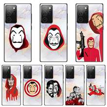 Spain TV Money Heist House Paper Case for Samsung Galaxy Note 20 Ultra 5G 8 9 10 Note 10 Plus Lite Phone Shockproof Bumper Shell(China)
