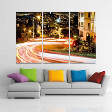 Modern Colorful Photo Picture Approximate Room Decor 3 Pcs Cities Canvas Art Painting Living Bedroom