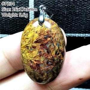 Image 4 - למעלה טבעי צהוב Pietersite תליון לאישה גברת איש קריסטל נמיביה אנרגיה אבן סגלגל חרוזים שרשרת תליון תכשיטי AAAAA