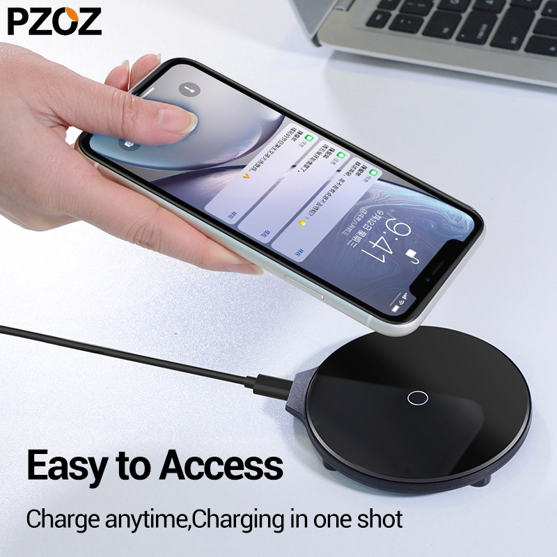 PZOZ QI Wireless Charger For IPhone 11 X XS Pro Max XR Samsung Galaxy S8 S9 Plus Note 9 Xiaomi Charger Wireless Charging Pad
