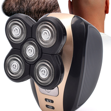 Razor-Clipper Hair-Trimmer Facial-Brush Beard Electric-Shaver Bald-Head Nose 5-Floating-Heads