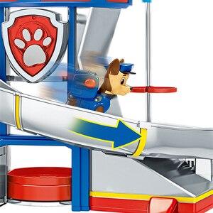 Image 2 - Patte Patrol jouets pour enfants, Base de sauvetage, Center de commandement, patrouille de chiots, ensemble de figurines de dessin animé, modèle, cadeau pour enfants