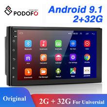 Podofo 2 din android rádio do carro gps bluetooth áudio estéreo wi fi usb fm 2din automático para vw nissan hyundai toyota CR-V kia