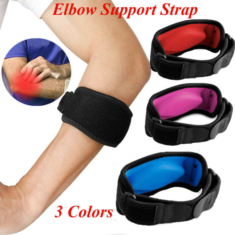 Tennis Elbow Support Brace Golfers Strap Epicondylitis Band Clasp Gym Sport Badminton Basketball Protector 1PC