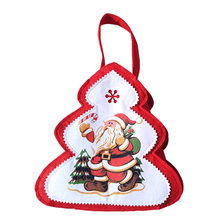 Merry Christmas Gift Candy Bag Xmas Tree-shaped Bag Decorations For Home New Year Gifts(China)
