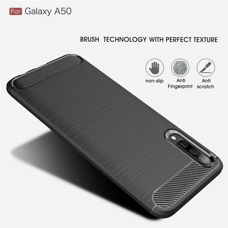 Soft Silicone Phone Case For Samsung Galaxy A50 A70 A10 A20 A30 A40 A60 A80 Note S8 9 8 S9 S10 PLUS M 10 20 30 Case Carbon Cover
