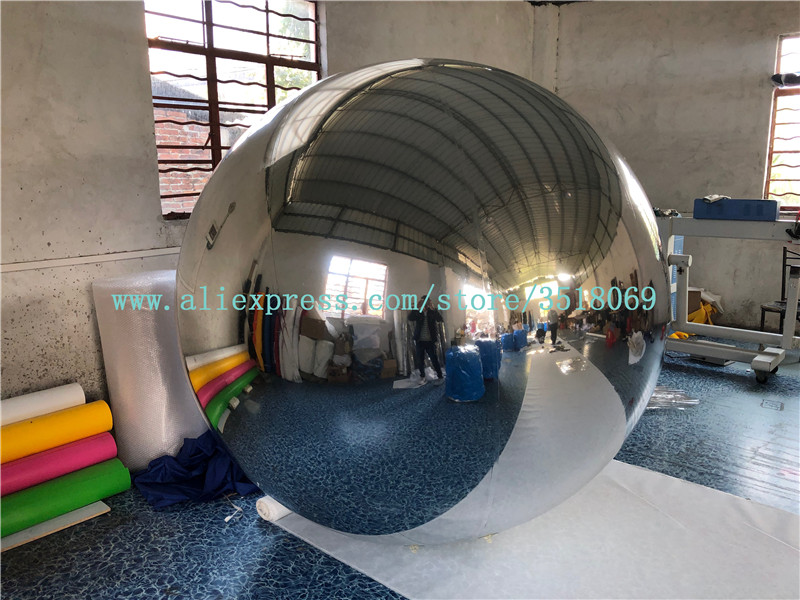 Best selling decoration chrome mirror balloon sliver inflatable reflective ball sliver inflatable mirror ball for event party Water Play Equipment    - title=