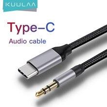 KUULAA tipo C USB 3,5 Jack C a 3,5mm AUX adaptador de auriculares para Huawei Mate 20 P30 Oneplus 7 pro Xiaomi Mi 8 9 Cable de Audio Cable
