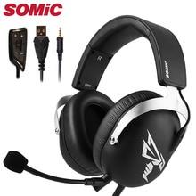 سماعات للعب سماعة سماعات 3.5 مللي متر USB مع مايكروفون ميكروفون هاتف الكمبيوتر الكمبيوتر PS4 Xbox gamer العلامة التجارية الأصلية Somic G805