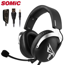 Gaming Headphone Headset Earphones 3.5MM USB with Mic Microphone PC Phone Computer PS4 Xbox gamer Original Brand Somic G805