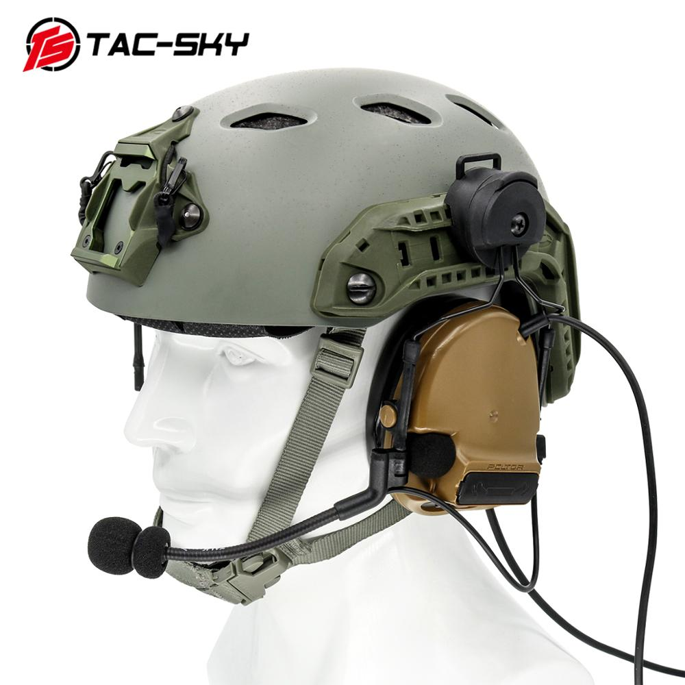 Image 5 - Military tactics Peltor helmet ARC OPS CORE helmet track adapter headphone bracket and fast action core helmet rail adapter   BK-in Walkie Talkie Parts & Accessories from Cellphones & Telecommunications