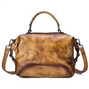 Image 4 - جوهناتشر رسمت باليد جلد طبيعي حقيبة يد فاخرة حقائب النساء 2020 جديد عادية حمل سعة كبيرة حقائب الكتف و Crossbody
