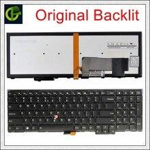 Yeni arkadan aydınlatmalı İngilizce klavye için Lenovo ThinkPad W540 W541 W550s T540 T540p T550 L540 kenar E531 E540 L570 0C44592 0C44944 abd