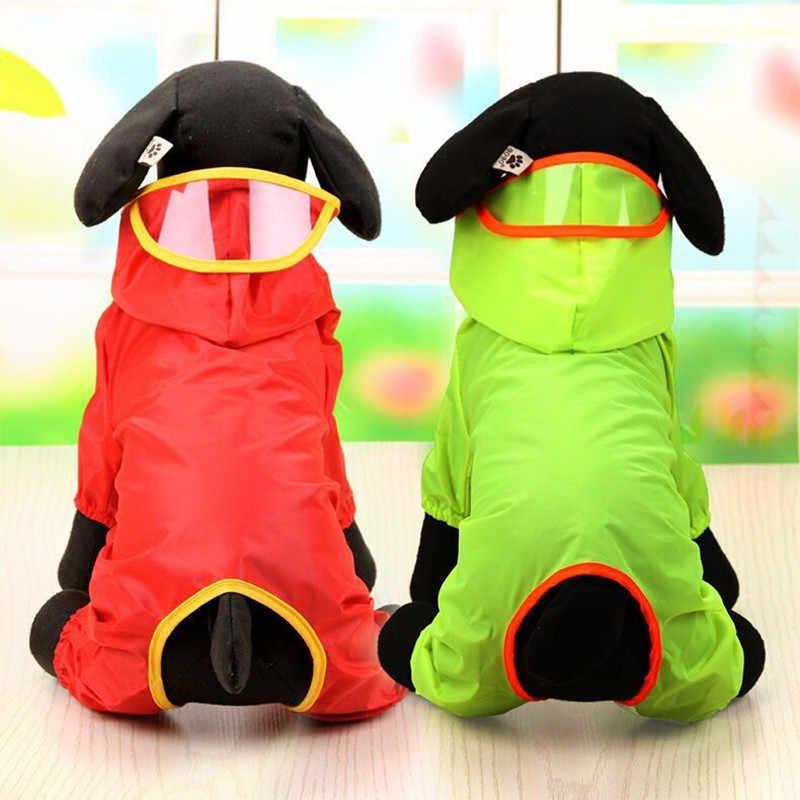 2020 wodoodporny pies szczeniak płaszcz przeciwdeszczowy pies wypoczynek bluzy odzież płaszcz przeciwdeszczowy kombinezon 6 kolorów XS-8XL gorąca sprzedaży kostium dla zwierząt