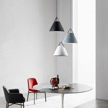 Nordic Macaron Minimalist Aluminum Pendant Lights Lighting Modern LED Pendant Lamp Living Room Restaurant Bar Cafe Deco Fixtures