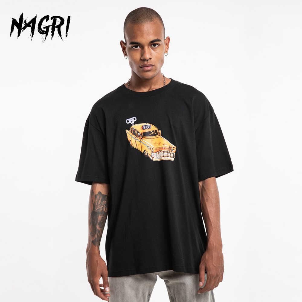 Nagri Oversize Mannen T-shirt Hip-Hop Travis Scotts Astroworld Brief Print Korte Mouw Grappige Punk Mode Losse Tees katoen