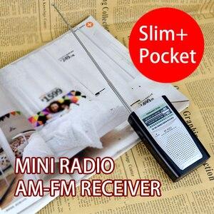 Image 5 - נייד רדיו מיני AM FM טלסקופי אנטנת רדיו כיס עולם מקלט רב תכליתי מיני רדיו