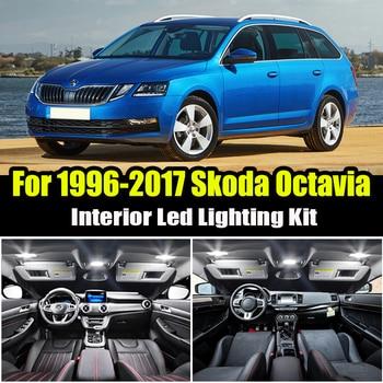 For 1996-2017 Skoda for Octavia 1 2 3 MK1 MK2 MK3 Sedan Combi White Canbus LED Lamp Interior Dome Map Lights Bulb Kit