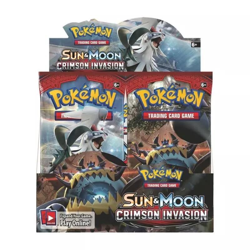324Pcs Pokemon Sun Moon  Crimson Invasion  Upgrade Trading Card Game Booster Box Collectible Kids Toys Gift