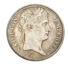 1812 Франция 5 франков - Наполеон III 1867 монеты скопировать Старого для коллекции подарок шапочки