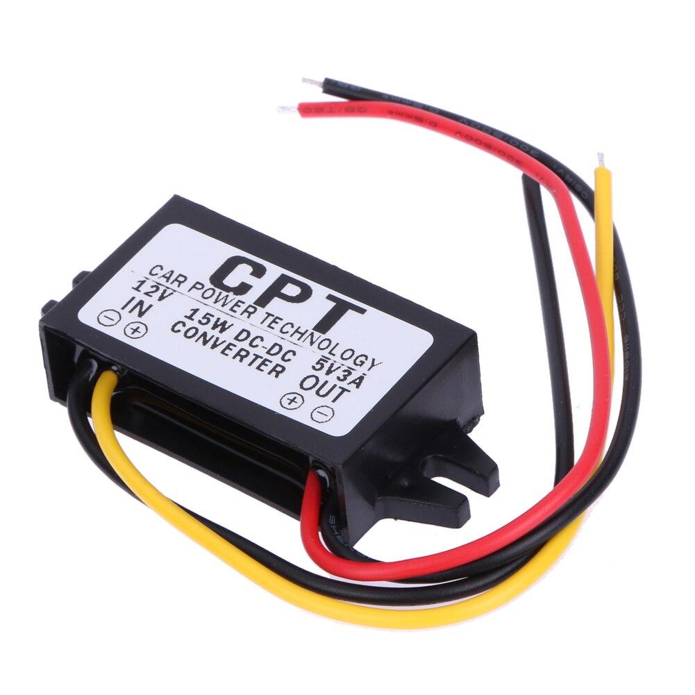 Преобразователь постоянного тока в постоянный ток, регулятор от 12 В до 5 В, 3 А, 15 Вт, Автомобильный светодиодный дисплей, источник питания
