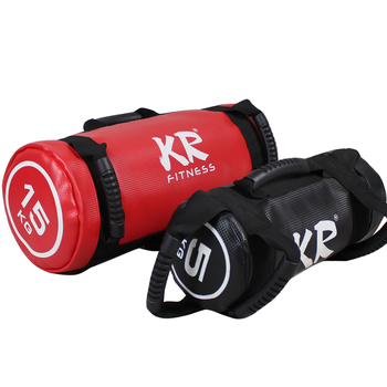 Unfilled Power Bag Fitness Body Building Gym Sports Crossfit Sand Bag Muscle Training PU Leather