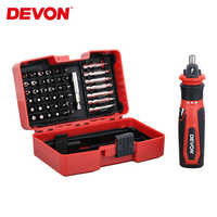 Devon Mini Electric Cordless Screwdriver 4V Lithium-ion Rechargeable Screw Driver Power Drill Repair Tool w/ Drill Bits Kits Set