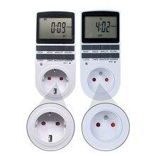 Цифровой таймер 230 В ЖК-дисплей Мощность Еженедельный программируемый измеритель времени реле Таймер 12/24 часов ЕС FR BR штепсельная розетка стандарта Великобритании для кухни