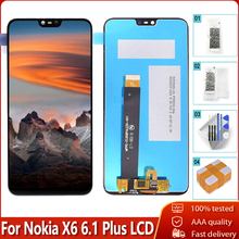 """5.8 """"Voor Nokia X6 6.1 Plus Lcd Touch Screen Digitizer Vergadering Vervanging 100% Getest Gratis Tools Voor Nokia x6 LCD"""