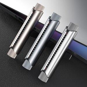 Image 4 - Licheers Luxe Auto Air Vent Parfum Aluminium Ontwerp Auto Luchtverfrisser Parfums Met 4 Effen Essentiële Olie Auto Houder