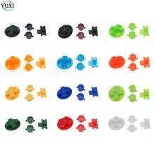 YuXi Multicolor Clear Plastic Douane DIY Knoppen Set Vervanging voor Gameboy Classic voor GB DMG EEN B knoppen D- pad Knop
