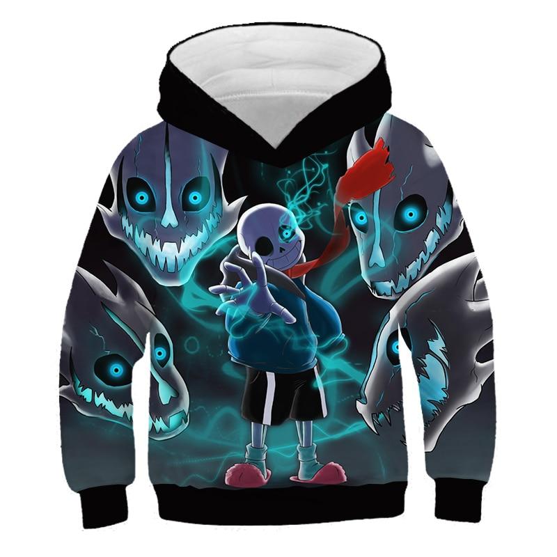 Undertale protagonist Sans 3D printing child Hooded sweater summer Kids street fashionable Boys and girls Leisure Sweatshirt