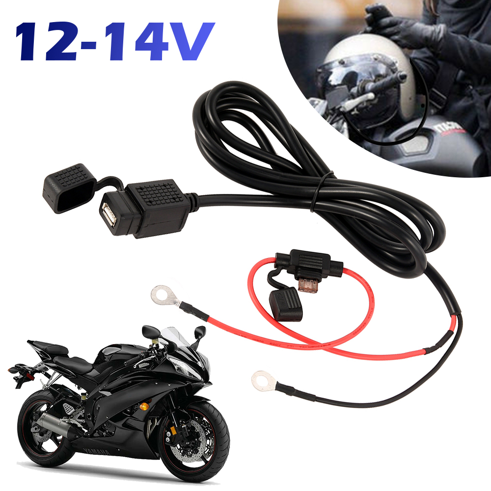 12V Waterproof Motorbike Handlebar Charger 5V 1A/2.1A Motorcycle USB Adapter Power Supply Socket For Mobile Phone USB Chargers