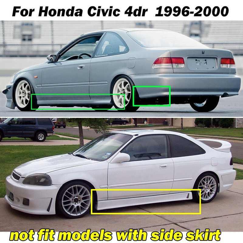 A-premium Splash Guard Mud Flaps Mudflaps for Honda Civic 1996-2000 Front and Rear 4-PC Set