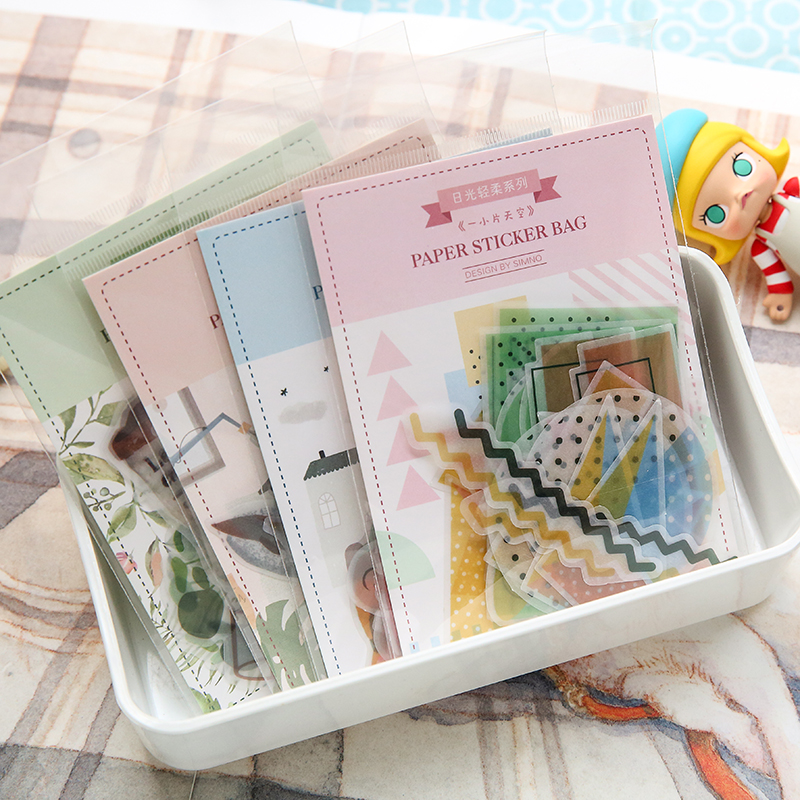 JIANWU 40pcs/set Kawaii Cartoon Kitty  Sticker Decoration DIY Scrapbooking Sticker Bullet Journal Sticker Stationery Store